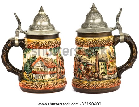 germany stein beer isolated - stock photo