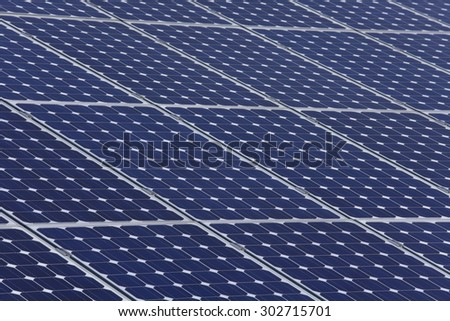 Germany,Upper Bavaria,Background of solar panel,full frame - stock photo