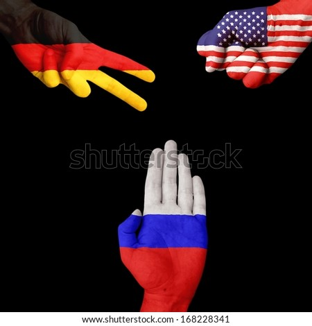 Germany USA Russia Rock-Paper-Scissors