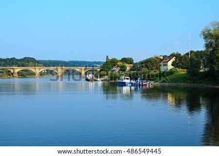 Germany-view of the bridge in Pirna