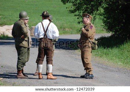 Germany 1945. WW2  reenacting