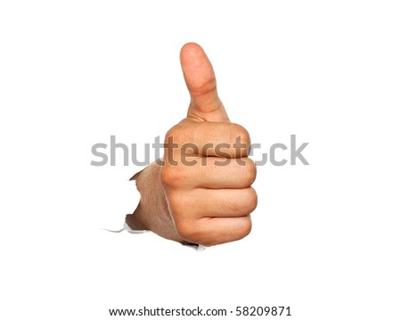 Gesture by a hand expressing good luck - stock photo