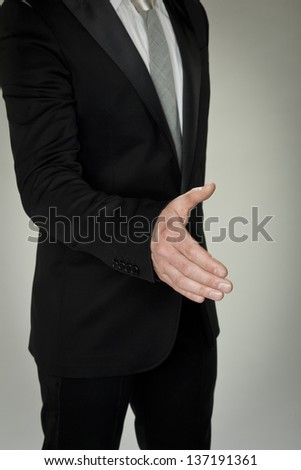 gesture of courtesy - stock photo