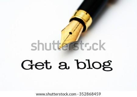 Get a blog concept - stock photo