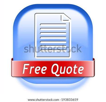 Get a free quote button or icon - stock photo
