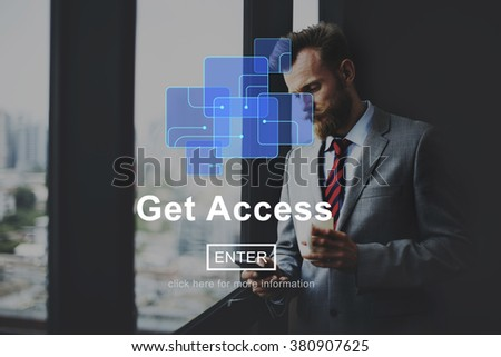Get Access Attainable Availability Online Technology Concept - stock photo