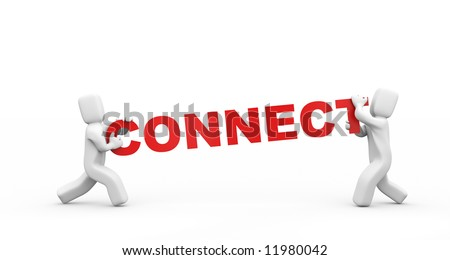 Get connection. - stock photo