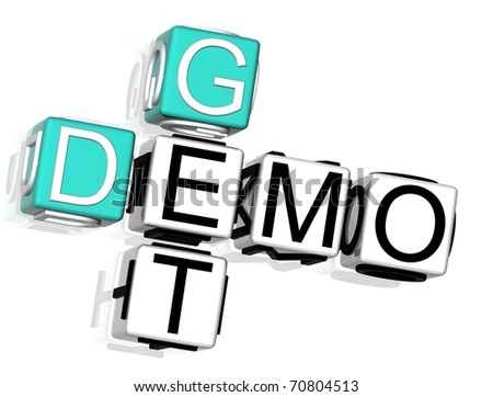 Get Demo Crossword - stock photo