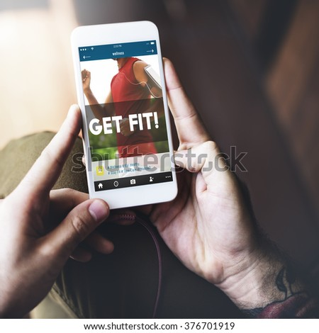 Get Fit Activities Fitness Exercise Health Sports Gym Concept - stock photo