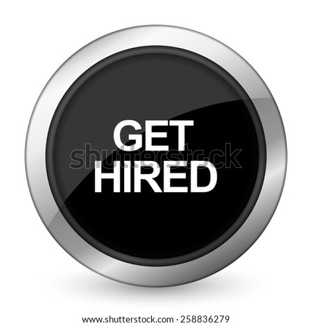 get hired black icon   - stock photo