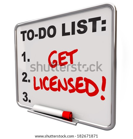 Get Licensed Words To Do List Board Approval Authorization - stock photo