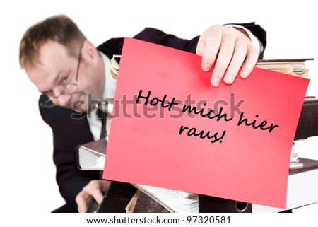 Get me out of here - stock photo
