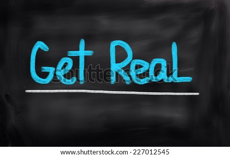 Get Real Concept - stock photo