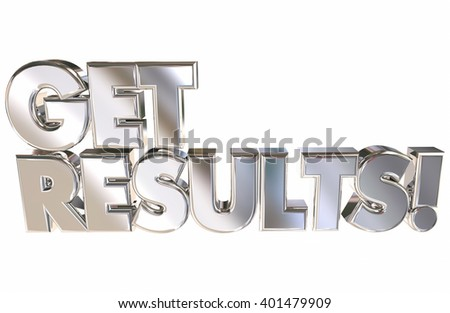 Get Results Successful Achievement Goal Reached 3d Words Animation