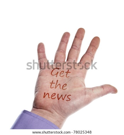 Get the news writed on hand