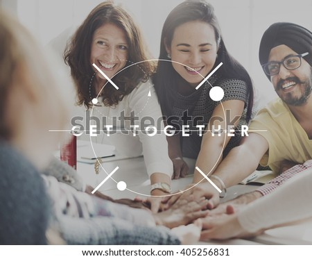 Get Together Gathering Teamwork Unity Concept - stock photo