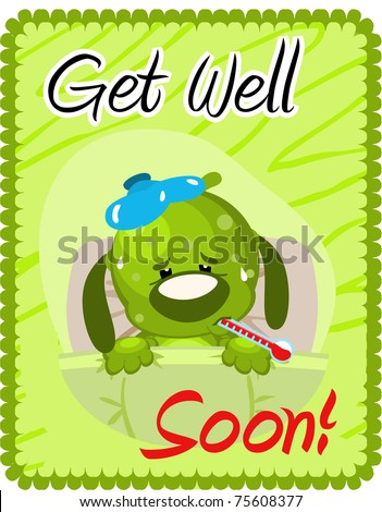 Get well soon greeting - stock photo