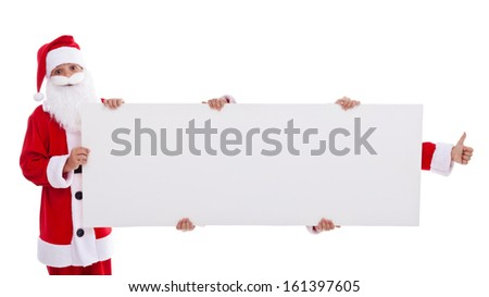 Get your hands on this Christmas offer concept - with copyspace banner - stock photo