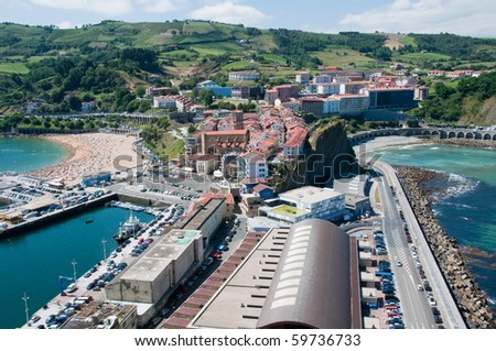 Getaria, Basque Country town - stock photo