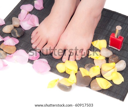 Getting A Pedicure - stock photo