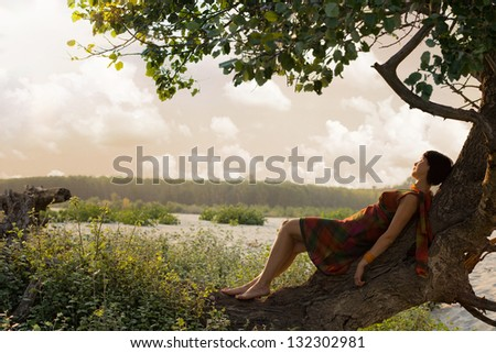 Getting away from it all - stock photo