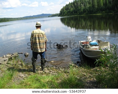 Getting back to the shore - stock photo