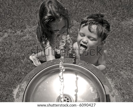 Getting Help At the Water Fountain