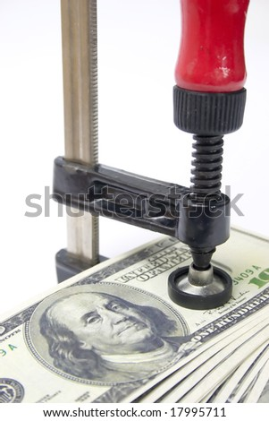 Getting more out of your money by squeezing - stock photo