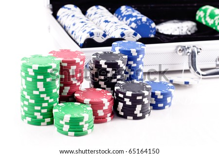 Getting Ready for a Poker Game - stock photo