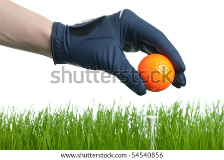 Getting ready for teeing off.. - stock photo