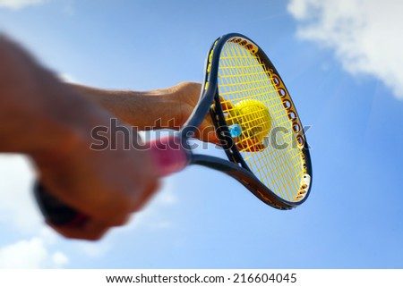 Getting ready to serve  - stock photo