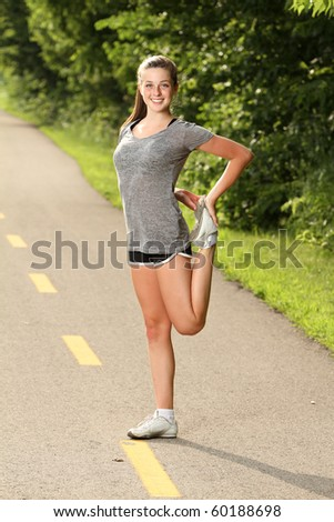 Getting ready to workout - stock photo