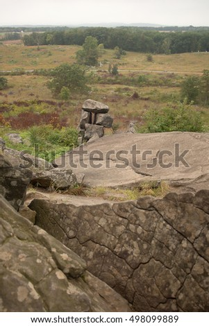 Gettysburg battlefield from Little Round Top