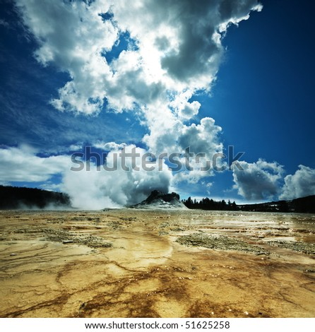 geyser Castle - stock photo