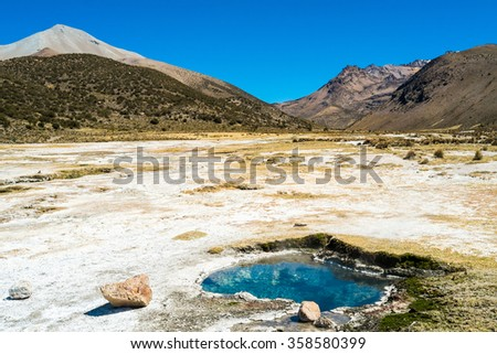 Geysers in Sajama National Park, Bolivia