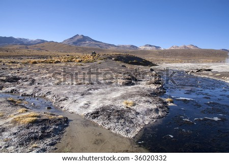 Geysers in the Andes