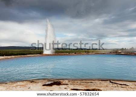 Geysir - Iceland - stock photo