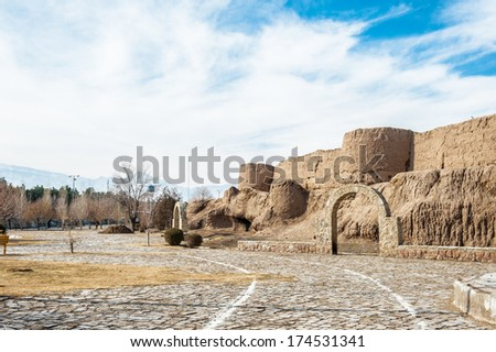 Ghal'eh Jalali  Fortress walls in the center of Kashan, Iran