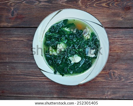 ghalieh mahi  - home of Persian food.Southern Iranian Spicy Fish & Herb Stew - stock photo