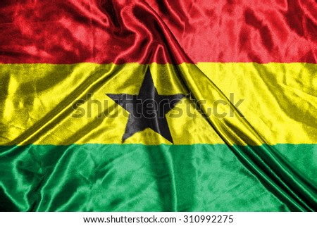 ghana. flag - stock photo