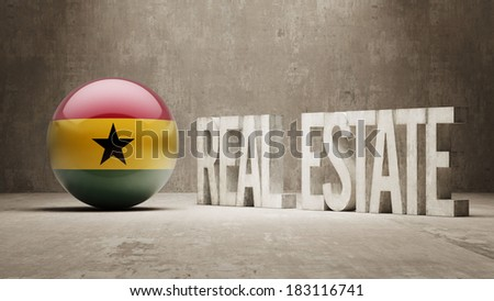 Ghana High Resolution Real Estate Concept - stock photo