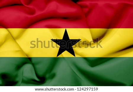 Ghana waving flag - stock photo