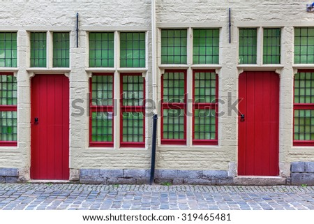 GHENT, BELGIUM - SEPTEMBER 02, 2015: house Van Alijn in Ghent. It is a museum that shows a collection of the daily life in the 20th century. Its located in a former Almshouse
