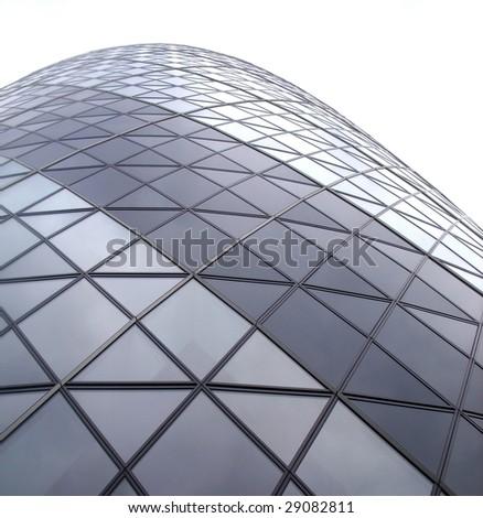 Gherkin building london,Modern glass architecture. - stock photo