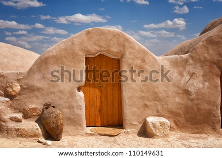 Ghorfas in South Tunisia - stock photo