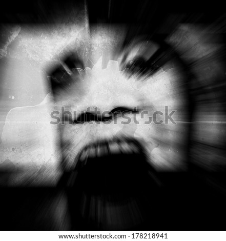 Ghost Background,For Movies Poster Project  - stock photo