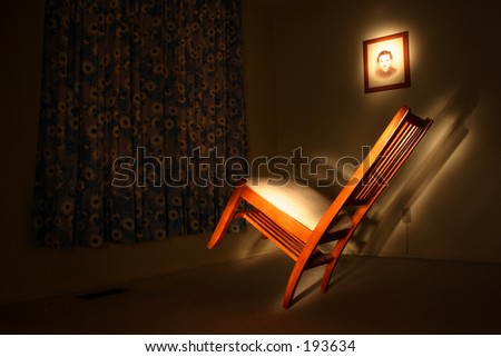 Ghost chair - stock photo