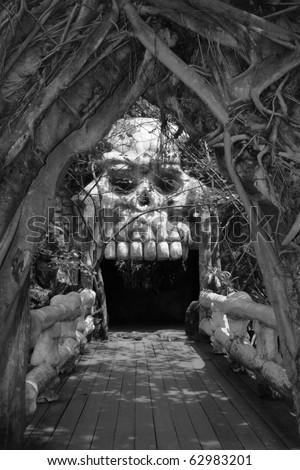 Ghost door - stock photo