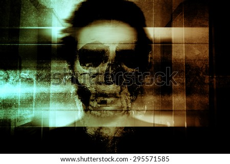 Ghost Face,Scary Background For Book Cover And Movies Poster Project  - stock photo