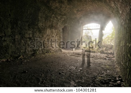 ghost in light - stock photo
